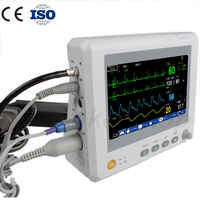 8 inch 6 Parameters Patient Monitor NIBP,Spo2, PR,ECG,RESP,TEMP ICU/CCU Multi-parameters Patient Monitor