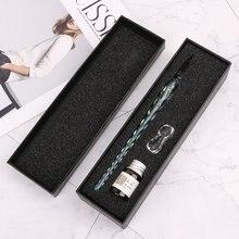 Перьевая ручка из хрустального стекла набор перьевых ручек с