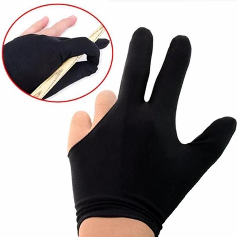 Snooker Pool Billiard Glove Cue Shooter Spandex 3 Finger Gloves