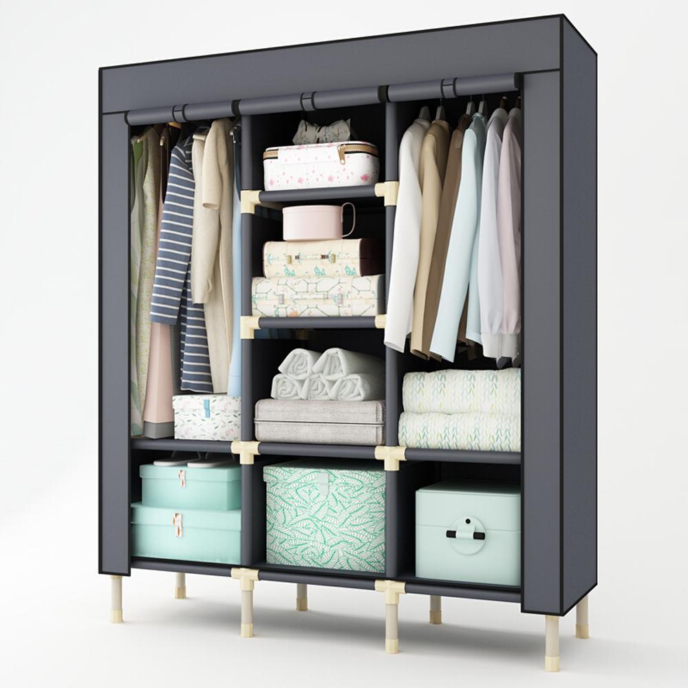 Super Large Heavy Duty Wardrobe Thicken Portable Family font b Closet b font Garment Rack for