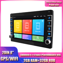 "2DIN Ultra dünne 8 ""Android 8,1 RAM 2GB ROM 32GB Änderung Auto Stereo Radio mit Taste knopf GPS Wifi OBD"