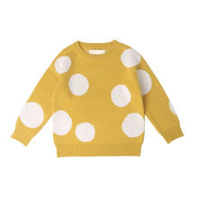 2019 Children Baby Sweaters Dot Boys Winter Girls Knit Kids Pullover Casual Clothing 1-6 Years