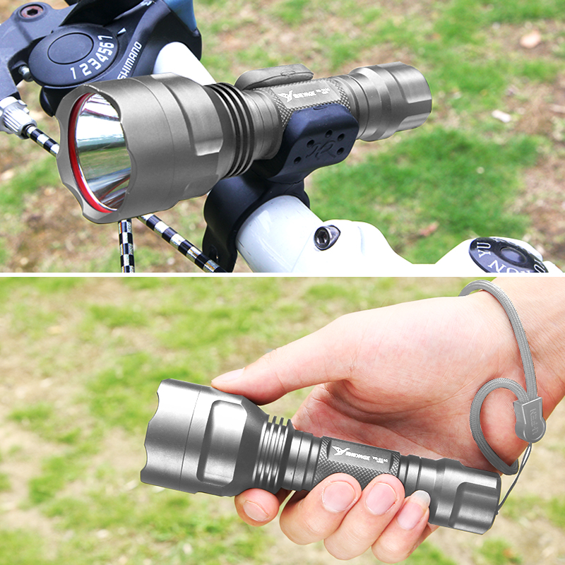 Купить с кэшбэком YAGE Flashlight 1000LM Aluminum Self Defense handheld flashlight LED Lantern Ultra Bright Torch Bicycle Riding Camping Light