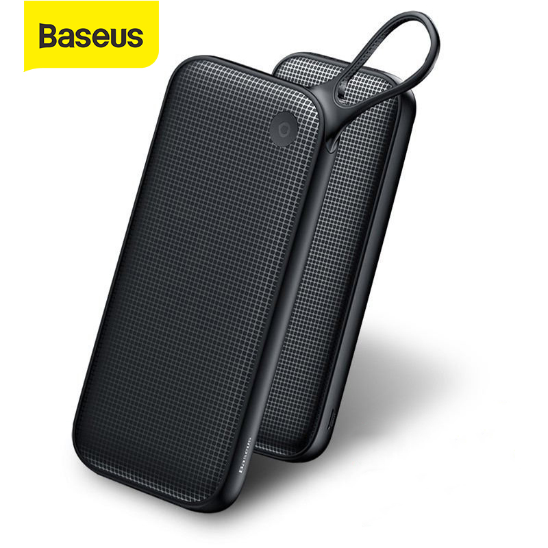 Baseus 20000mAh Power Bank Quick Charge 3.0 USB External Battery Powerbank 18W QC 3.0 PD Fast Chagring Poverbank For Phone Power Bank    - AliExpress