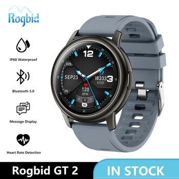 Rogbid GT 2 Smart Watches Men 2021 New Boys Girls Sport Watch Smartwatch Fitness Tracker Waterproof Clock For iOS Android Xiaomi