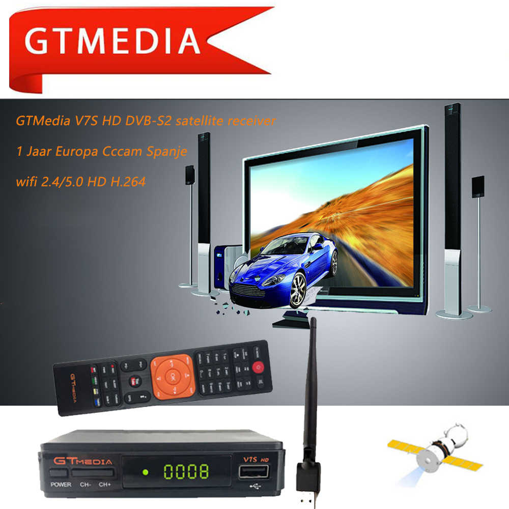 Gtmedia V7S Hd DVB-S2 Met Usb Wifi Fta Tv Satellietontvanger DVB-S2 Youtube Full Hd 1080P V7 Hd Upgrade satellietontvanger