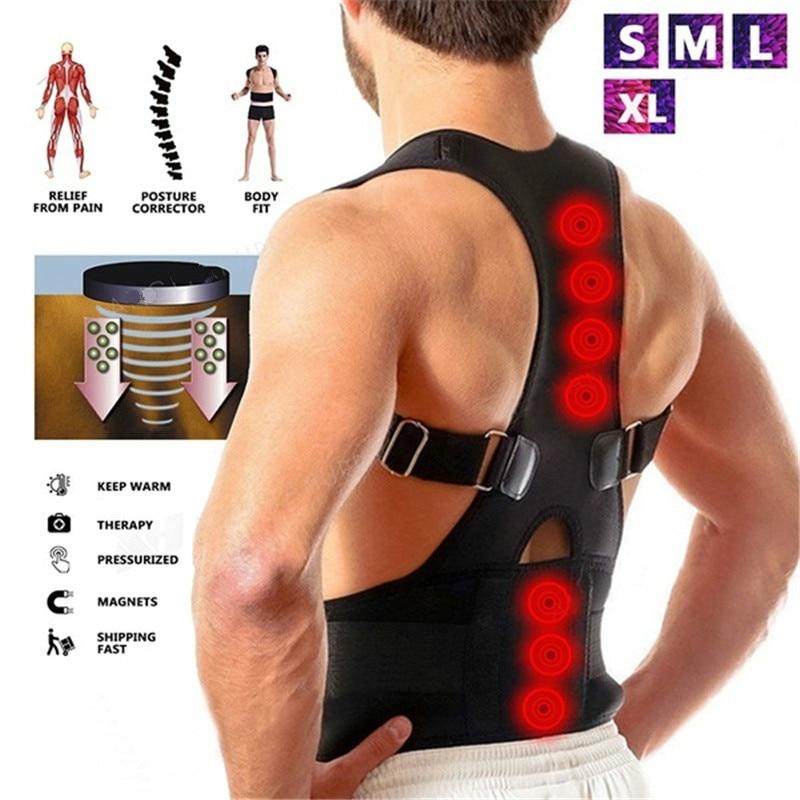 Sitting Posture Corrector Adjustable Magnetic Shape Body Shoulder Brace Belt Men And Women Back Vertebra Correct Therapy