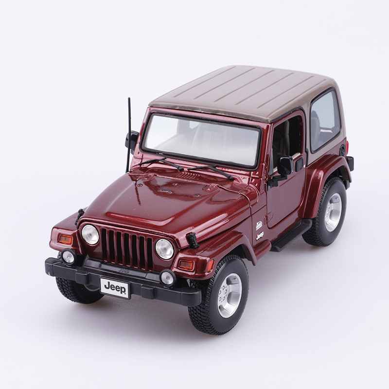 Wrangler Sahara <font><b>1:18</b></font> Alloy Diecast Model Cars Static Simulation Decoration Metal Car Miniatures <font><b>Voiture</b></font> Mini Car Collection Toys image