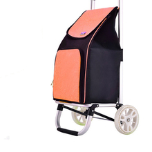 Grocery-Bag Hand-Truck Moving for Luggage Travel Office Converts Dolly Foldable Into
