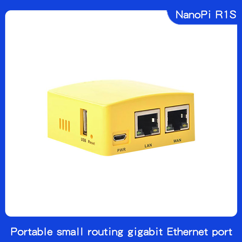 Friendly NanoPi R1S Portable Small Route, All Chi H3/H5 Dual Gigabit Ethernet Port 512M Memory OpenWRT