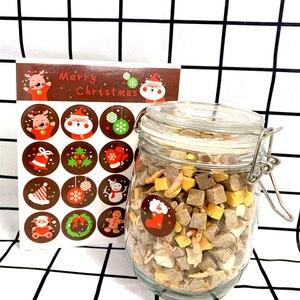 Image 5 - 1600 шт./лот Kawaii Merry Christmas, Санта Клаус, олень, круглые самоклеящиеся декоративные подарочные наклейки, подарочные этикетки, оптовая продажа