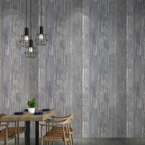 Винтажные деревянные обои 3d ПВХ водостойкая напольная панель обоями домашний декор индивидуальное настенное покрытие винил papel tapiz
