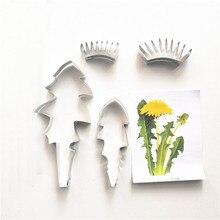 タンポポフォンダンシュガー花カッターベーキングケーキ装飾ポリマークレイコールド磁器 gumpaste ツール