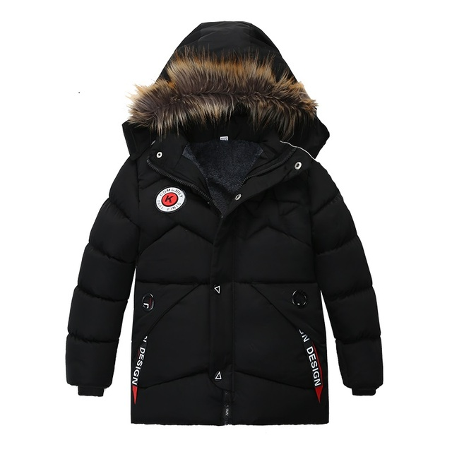 Boy Down Jacket 2020 Winter Warm Baby Boys Star Hooded  Wear Down Jacket 3