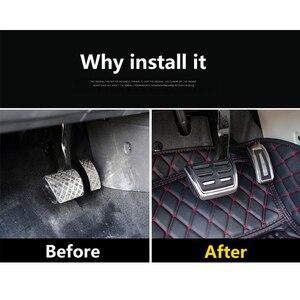 Image 3 - Car Accelerator Gas Brake Pedal Clutch Pedals Cover For VW Golf 7 GTi MK7 Seat Leon 5F MK3 Octavia A7 Rapid Audi A3 8V Passat