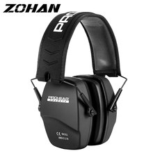 ZOHAN Shooting Ear Protection Safety Earmuffs NRR 26dB Noise Reduction Slim Passive Hearing Protector Foldable Ear Defender