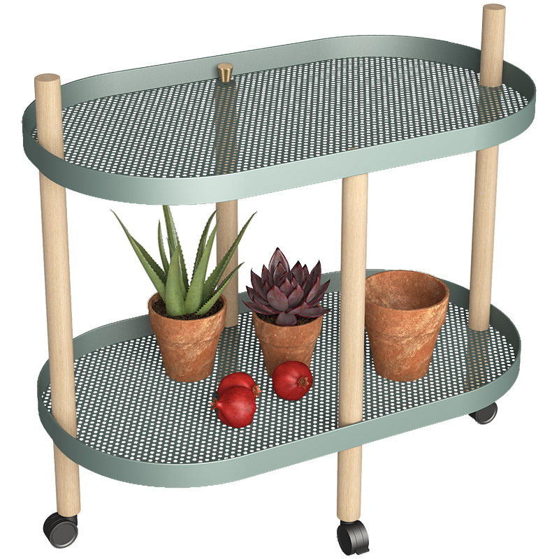 Northern Wind Trolley Shelf Multi-functional Art Creative Flower Removable Moving With Wheels