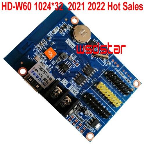 HD W60 1 * HUB08 2 * HUB12 1024*32 USB و WIFI واحد وثنائي اللون LED عرض بطاقة التحكم HD W60 HD W6B المبيعات الساخنة 3 قطعة/الوحدة