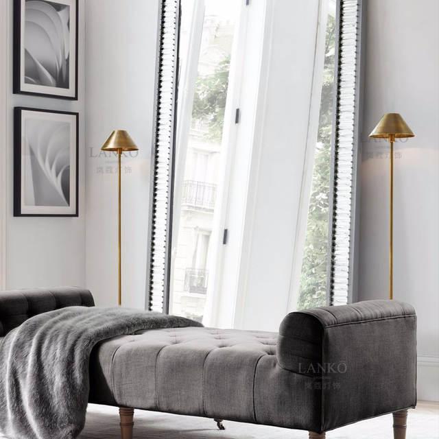 US $925.32 56% OFF American retro modern minimalist living room bedroom  wrought iron floor lamp designer villa floor lamp on AliExpress