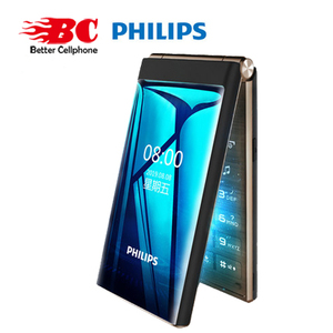 Original Philips E219 2.8 inch 1800mAh battery single camera FM Radio support memory card Dual SIM 2G Old man keyboard phone