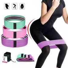 3 Teile/satz Hüfte Widerstand Bands Breiten Workout Schleife Bands Gym Startseite Fitness Elastische Anti Slip Bands für Schlanke Butt Beine übung