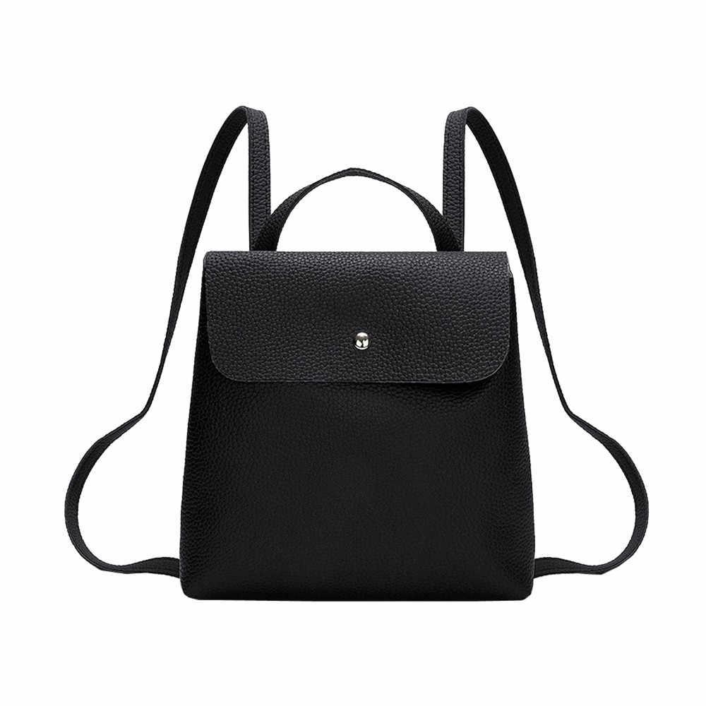 Mini skórzane eleganckie plecaki na ramię kobiety luksusowej marki plecak szkolny Zipper plecak dziewczyny Pure Color Casual Book Mochila