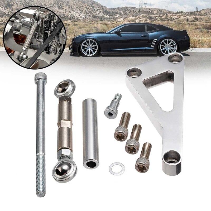 For Chevy SBC 350 400 Aluminum Alloy Long Water Pump Alternator Generator Bracket Kit Set Mount Polished PCE232.1002