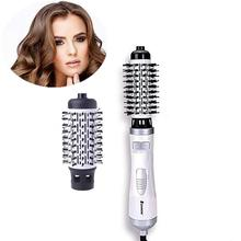 1000W Multifunctional 2 In 1 Electric Hair Dryer Brush Hair Straightener Curler Comb Hair Straightening Curling Styling Brush