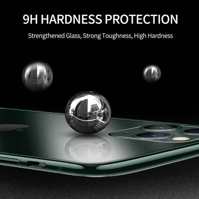 Ykz capa de vidro para iphone, capinha de luxo para iphone 11, pro, max, ultra fina e transparente, de vidro para iphone xs max, xr x 10 7 8 se borda macia