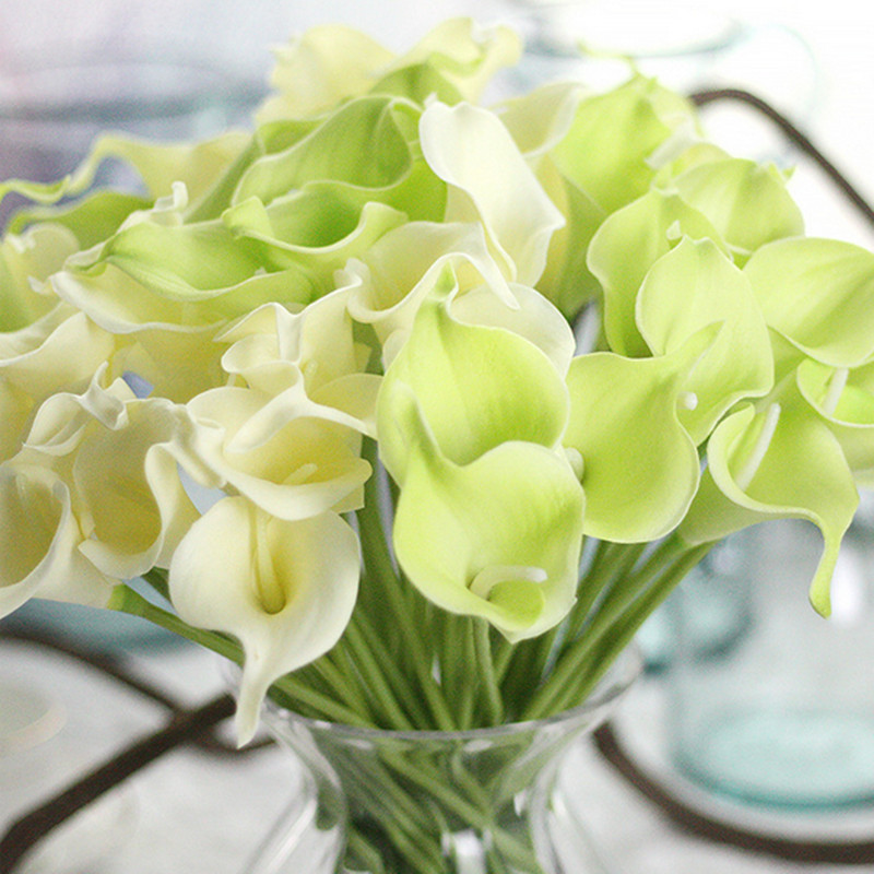 1PC PU Mini Tulips Artificial Flowers For Home And Wedding Decoration Flowers 29