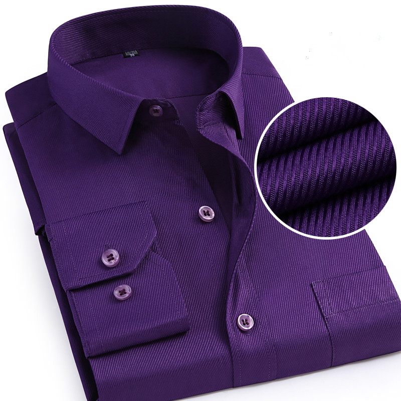 Men Long Sleeve Shirt 2019 Spring Autumn New Brand Solid Color Business Formal Luxury Camisetas Masculinas Plus Size Shirt Male
