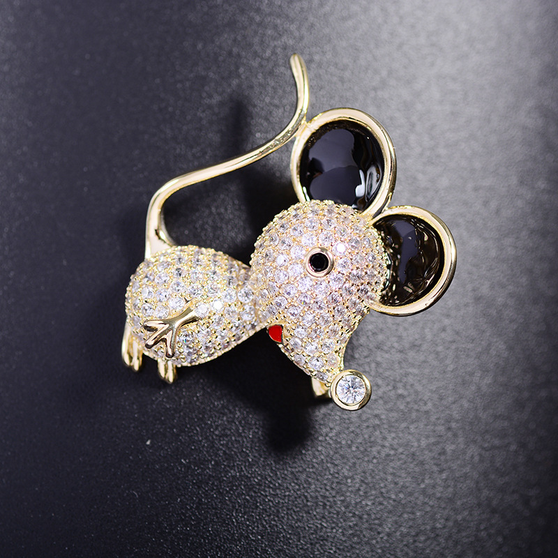 Bad Guy Zircon Brooches for Women's Mouse Brooches Pins Fashion Pins Accessories for Clothes Decoration Brooch Medical Cute Pins-2