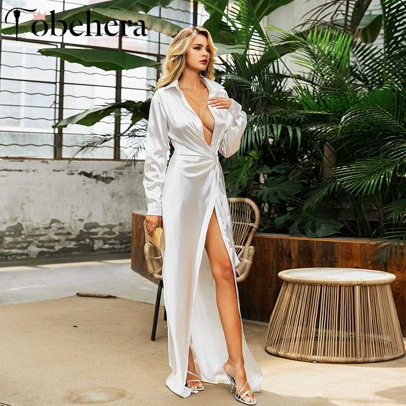Glamaker Bạc Sáng Bóng Mặt Trắng Dây Nữ Plus Size Đầm Maxi Gợi Cảm Đảng Dài ĐẦM MÙA HÈ Bodycon Cổ Chữ V Thanh Lịch Màu Đen Vestidos