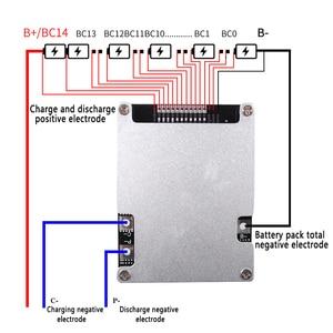 Image 3 - BMS 10S 12S 13S 14S 16S 30A 40A 50A 60A 100A 48V 60V 18650 리튬 이온 리튬 배터리 보호 보드 BMS 회로 밸런스 모듈