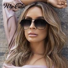 WHO CUTIE 2018 Pilot Sunglasses Women Brand Designer Retro V