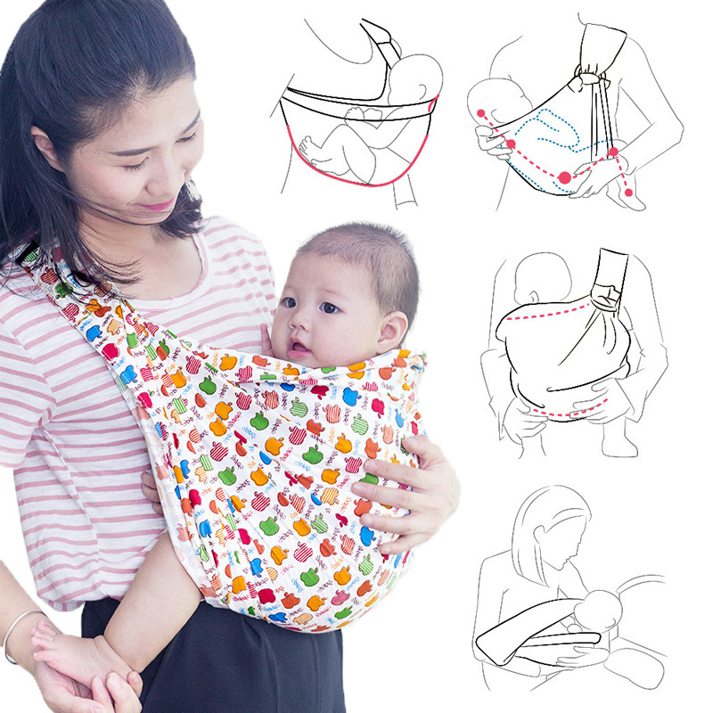 Ergonomic Infant Slings Baby Carrier Slings Wrap Baby Backpack Carrier Newborn Breastfeeding Support Cloth Kids Kangaroo-in Backpacks & Carriers from Mother & Kids on AliExpress