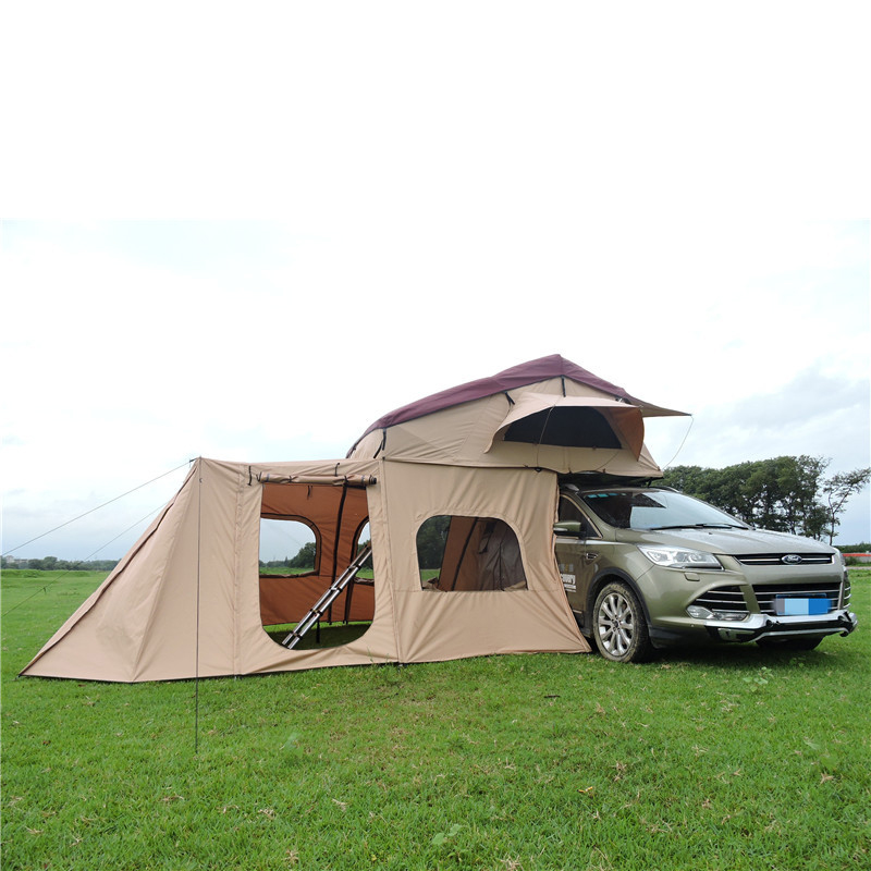 Car Outdoor Camping Roof And Side Tents, Easy To Setup