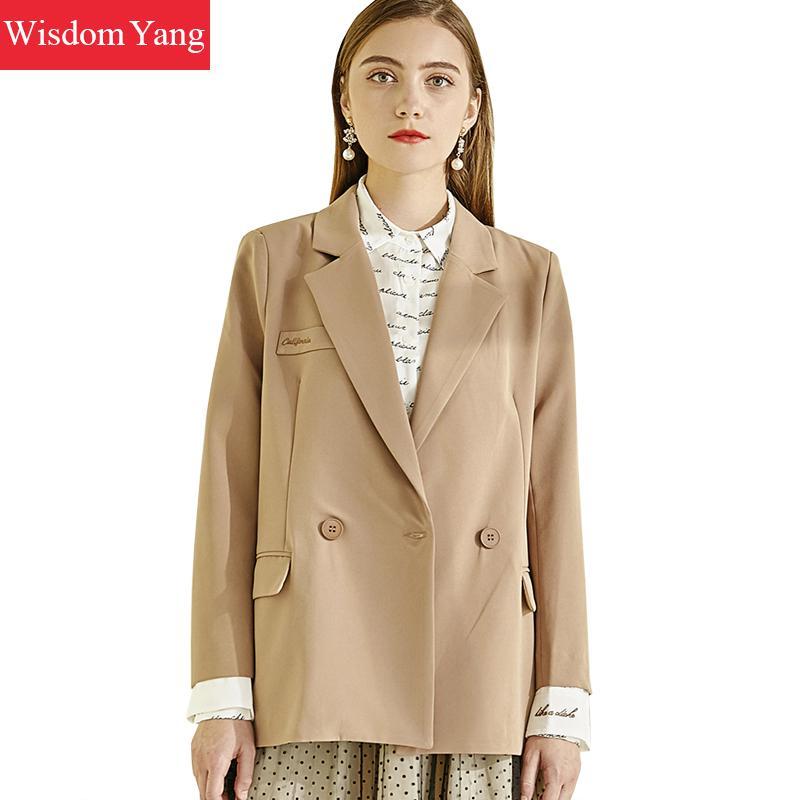Autumn Suit Jacket Womens Khaki Windbreaker Coat Female Business Coats Slim Jackets Suits Office Lady Korean Outerwear Overcoat