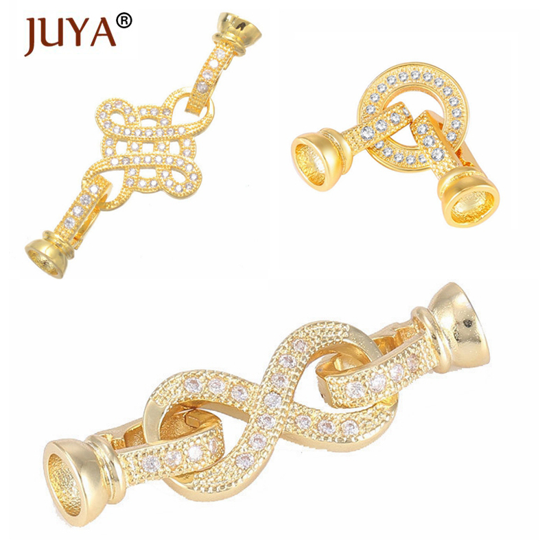 3 Types Of Fashion Jewelry Clasps Hooks For DIY Beaded Bracelets Necklaces Jewelry Making Accessories