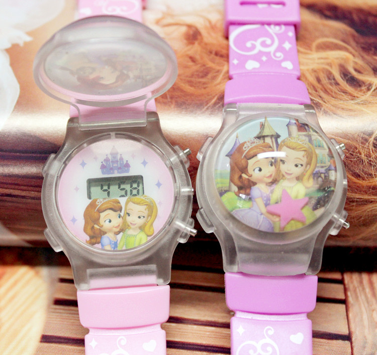 Aliexpress Best Selling Silicone Princess Children Luminous Watch Girl Kids Watches LED Flash Light Child Watch Female Clock