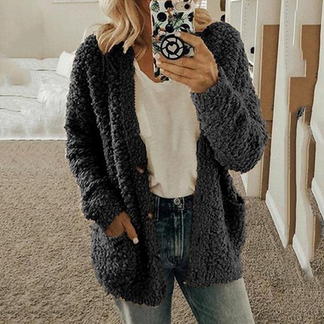 2020 Autumn Winter Faux Fur Coat Women