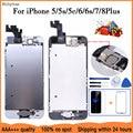 AAA + + + LCD Vollversammlung Für iPhone 5 5C 5S SE 6 7 8 Plus Touch Glas Display LCD digitizer Ersatz + Frontkamera + Ohr Lautsprecher