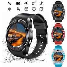 Новинка 2020 спортивные мужские Смарт часы v8 sim карта android
