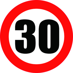Refleative Car Sticker Speed Limit Sign 30KM Decal Automobile Motorcycles Decoration Accessoriess PVC,30cm*30cm