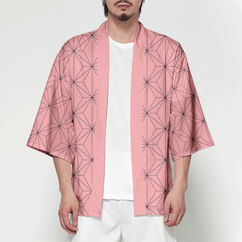 Wamni Kimono Vest Mannen Zomer Streetwear Samurai Kostuum Kimono Batwing Mouw Kimono Man Grappig 3D Print Dropshipping