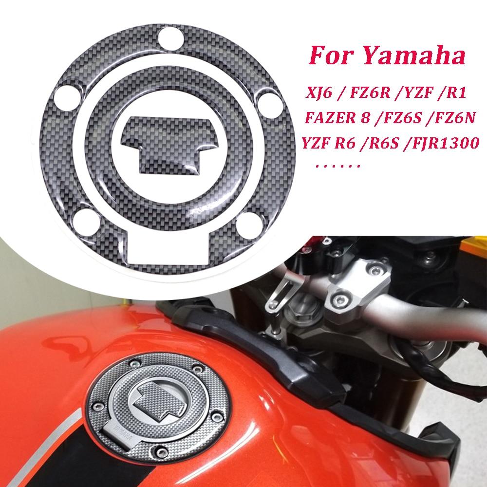 Carbon Fiber 3D Motorcycle Tank Pad Protector Sticker For YAMAHA FZ1S FZ8 FAZER 8 FZ6S FZ6N XJ6 FZ6R YZF R1 YZF R6 R6S FJR1300