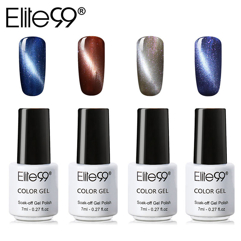Elite 99 1 Piece Cat Eye Gel Varnish Lacquer UV Gel Nail Polish Magnetic Gel Lacquer 7ML Semi Permanent Varnish