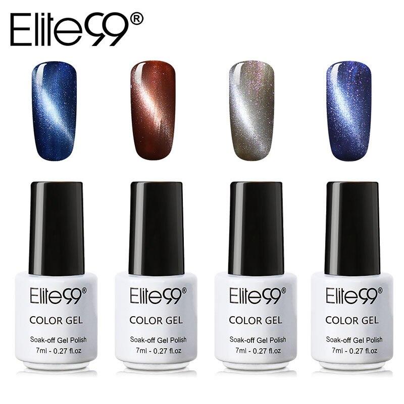Elite 99 1 Piece Cat Eye Gel Varnish Lacquer UV Gel Nail Polish Magnetic Gel Lacquer 7ML Semi Permanent Varnish