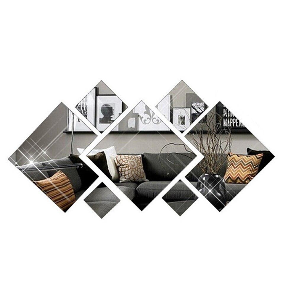 Украшение для гостиной зеркальная поверхность настенная наклейка