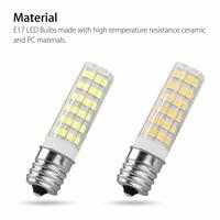 5Pcs E17 7W LED Dimmbare Licht Birne Zwischen Basis Hause Lampe Appliance LB88